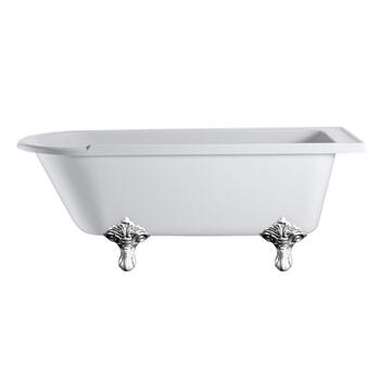 Hampton Roll Top 1700 Shower Bath & Trad Legs
