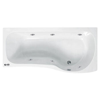 Ethan 1700 P Shaped Whirlpool Shower Bath (rh) - 23-276