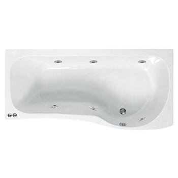 Ethan 1700 P Shaped Whirlpool Shower Bath (rh) - 23-276