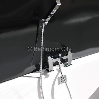 stunning Modern CHROME standard Bath Shower Mixer Taps lever Handle