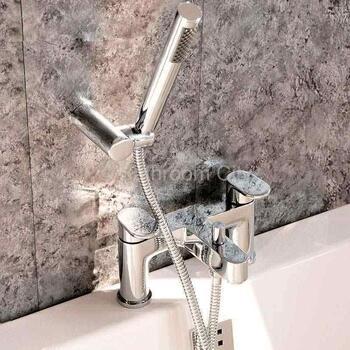 contemporary Modern CHROME standard Bath Shower Mixer Taps lever Handle