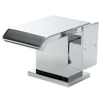 Modern deluxe CHROME waterfall Basin tap With a lever Handle
