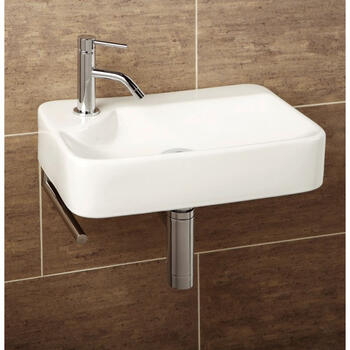 Lugo Washbasin With Towel Rail Straight Designer Shape and Stylish Bathroom Accessory
