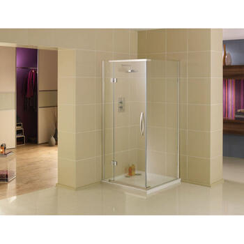 Inline Hinge Door & Side Panel Shower Enclosure Luxurious Stylish Bathroom Accessory