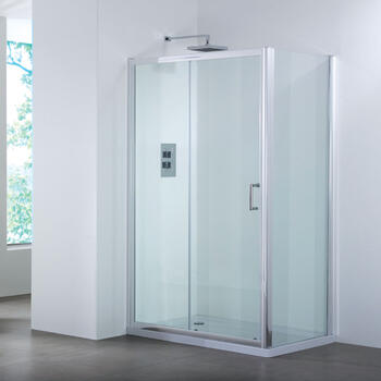 Bathroom City 1200 Sliding Shower Door & Side Panel Shower Enclosure - 25-362
