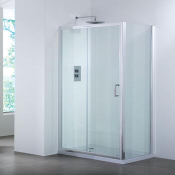Bathroom City 1200 Sliding Shower Door & Side Panel Shower Enclosure - 25-362