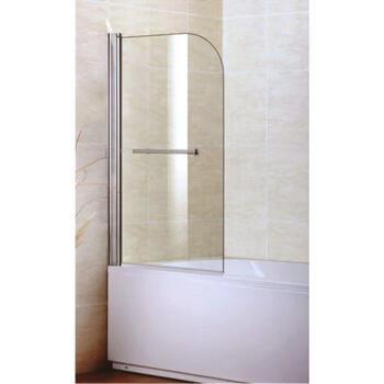 Single D Shape Bath Screen With Towel Rail for Ellegant Bathroom