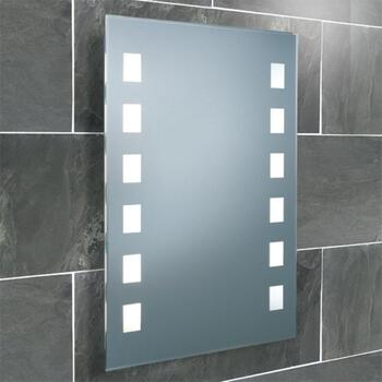 Halifax Bathroom Mirror With Frosted Lights rectangle Shape bulb High Quality