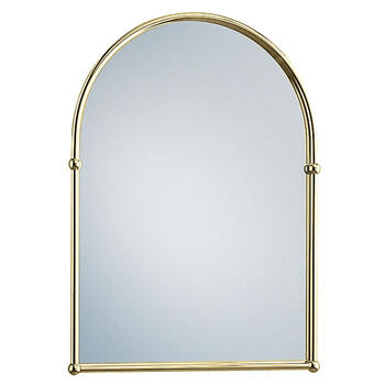 Arched Wall Mirror Vintage Gold arched Contemporary