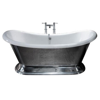 ExCelsior polished Aluminium Boat Bath