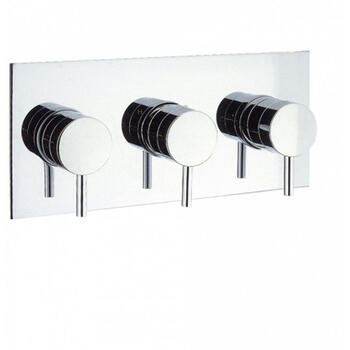 Elite Thermostatic Shower Valve 3 Control Landscape Contemporary Design and Chrome Finish