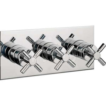 Totti Thermostatic Shower Valve with 3 Control System Landscape Square Contemporary Design