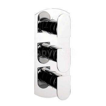 Modest Thermostatic Shower Valve-3 Way Div Port rectangle