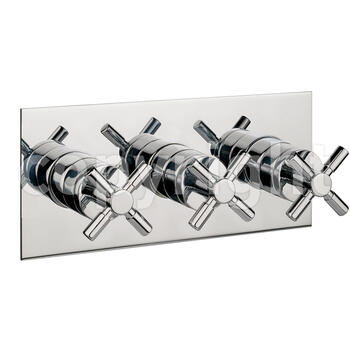 Totti Thermostatic Shower Valve-3 Way Div Port rectangle