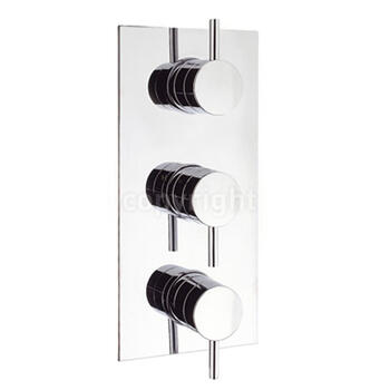 Kai Lever Thermostatic Shower Valve-3 Way Div Port rectangle
