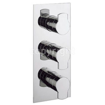 Design Thermostatic Shower Valve-3 Way Div Port rectangle