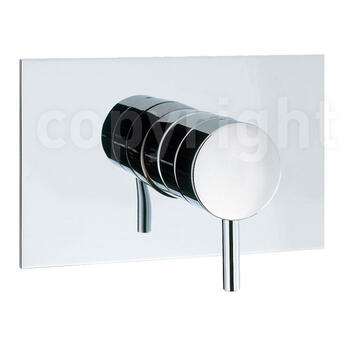 Kai Lever Manual Shower Valve Diverter Recessed Rectangular Modern Bathroom Design