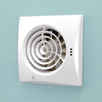 Hush White Timmer Bathroom Extractor Fan