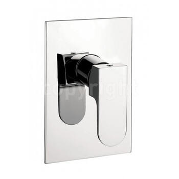 Modest Manual Chrome Shower Valve Wall Mounted Rectangle