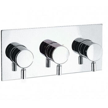 Design Thermostatic Shower Valve 3 Control (port) rectangle