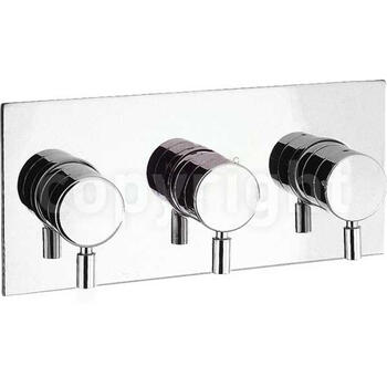 Design Thermostatic Shower Valve 3 Control LAnd rectangle