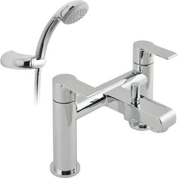 Modern CHROME standard Bath Shower Mixer Taps lever Handle