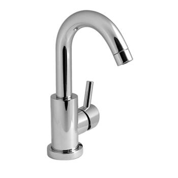 Modern sheek CHROME spout Basin tap With a lever Handle