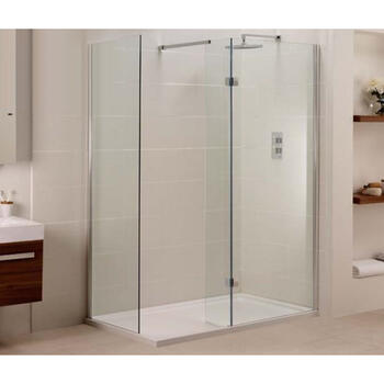 inline closed side fixed panel for walk in shower for bathroom