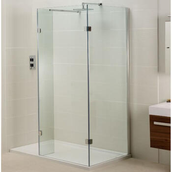 Inline Open Side Fixed Panel for Walk In Shower for Modern Bathroom