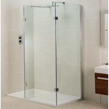inline open side fixed panel for walk in shower for modern bathroom