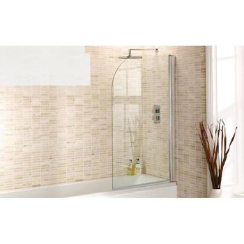 Bath Screen Round D Shape Edge