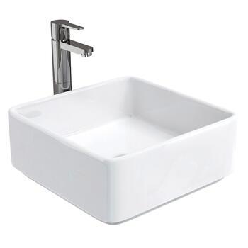 Ceramic Square Basin - 8062