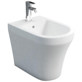 Fine Back To Wall Bidet Curved Contemporary Design Bathroom Accessory