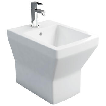Cube Back To Wall Bidet Standard Square Design Toilet Contemporary Bathroom Accessory