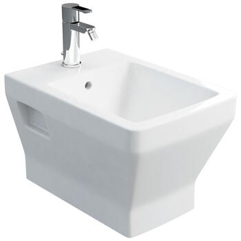 Cube Wall Hung Bidet Straight Contemporary Design and Easy to Install
