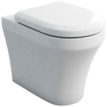 Fine Back To Wall Curved Contemporary Pan And Soft Close Toilet Seat