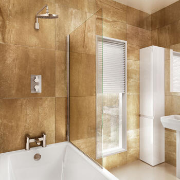 Bath Screen Contemporary Single Square 85cm X 145cm