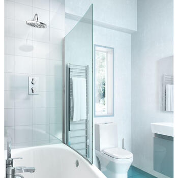 Ecocurve Single Square Bath Screen