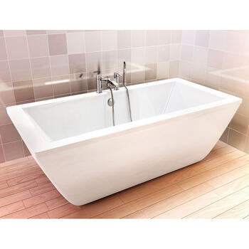 Freefortis Designer and Luxury Rectangle Bath Including Inner And Outer Skin