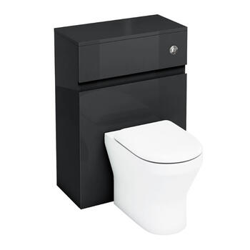 600mm Back To Wall Wc Unit with Flush Button Toilet