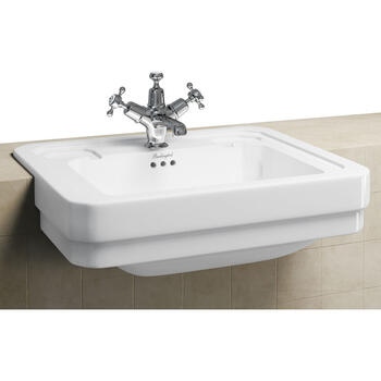 Semi Recessed Basin 58cm for Bathroom and Cloakroom
