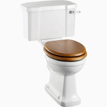Regal Close Coupled Pan Ceramic with Lever Curved Design High Quality Bathroom Toilet