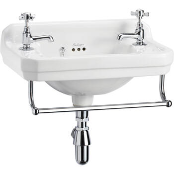 Edwardian Cloakroom Basin And Towel Rail - 8263