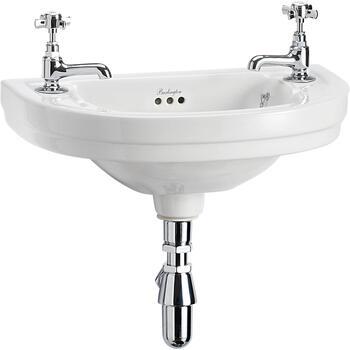 Edwardian Cloakroom Round Basin 52cm 2th - 8271
