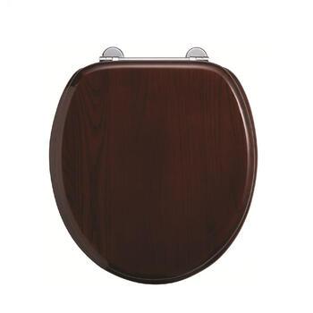Mahogany Chrome Soft Close Toilet High Quality Traditional Design Seat