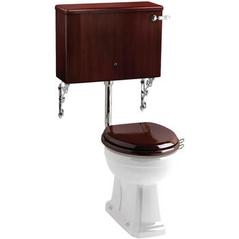 Mahogany Cistern With Ceramic Cistern Lever And  Wc - 8286