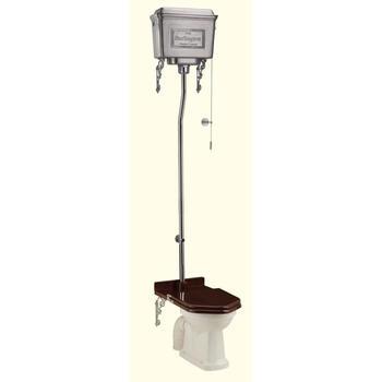 polished AluMinium High Level Wc Traditional  Edwardian Toilet