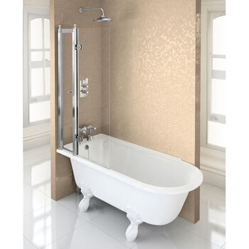 Hampton ShowEring Bath Left Hand With White Claw Legs