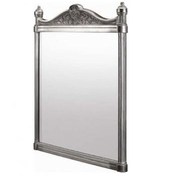 Georgian Wall Mirror polished Aluminium rectangle Ellegant