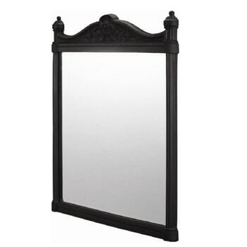 Georgian Wall Mirror Black AluMinium rectangle